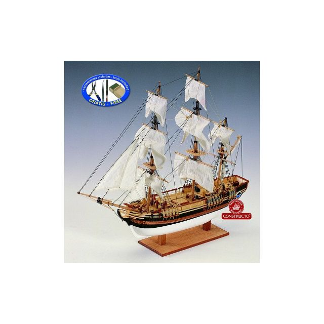 constructor maquette bateau en bois hms bounty 1 110 pas cher achat vente accessoires. Black Bedroom Furniture Sets. Home Design Ideas