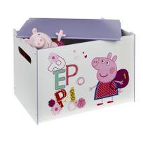 Comforium - Coffre à jouets pour fille design Peppa Pig
