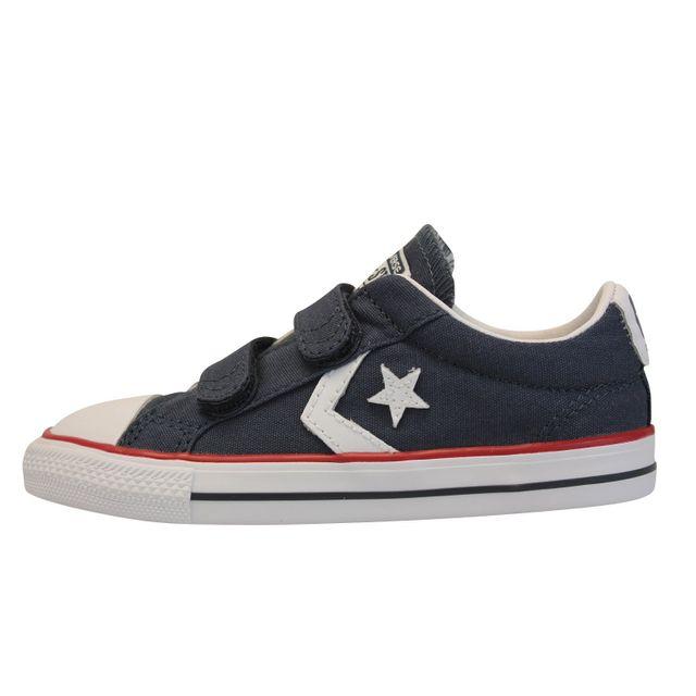 Converse Star Player 2V cuir Enfant 26 Black pas cher