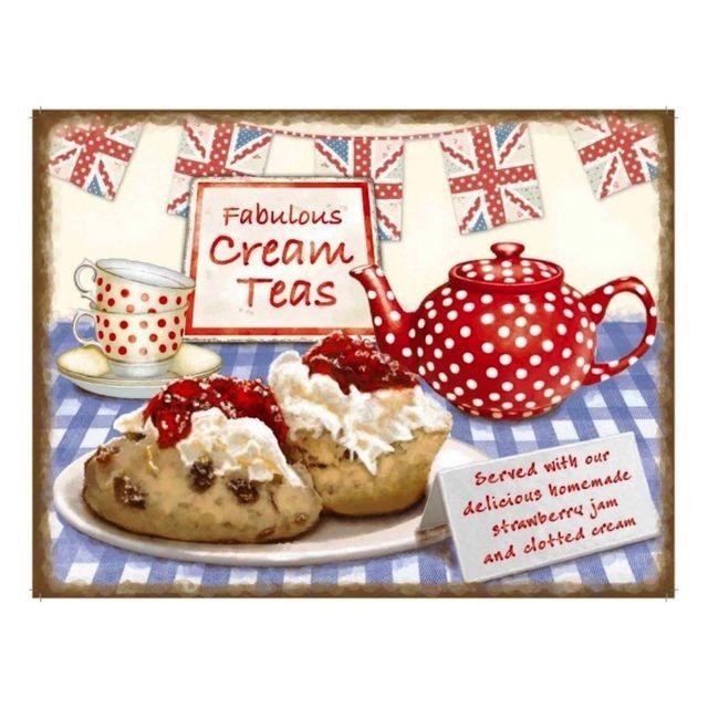 Universel Plaque gateau fabulous cream tea dod cuisine salon de thé