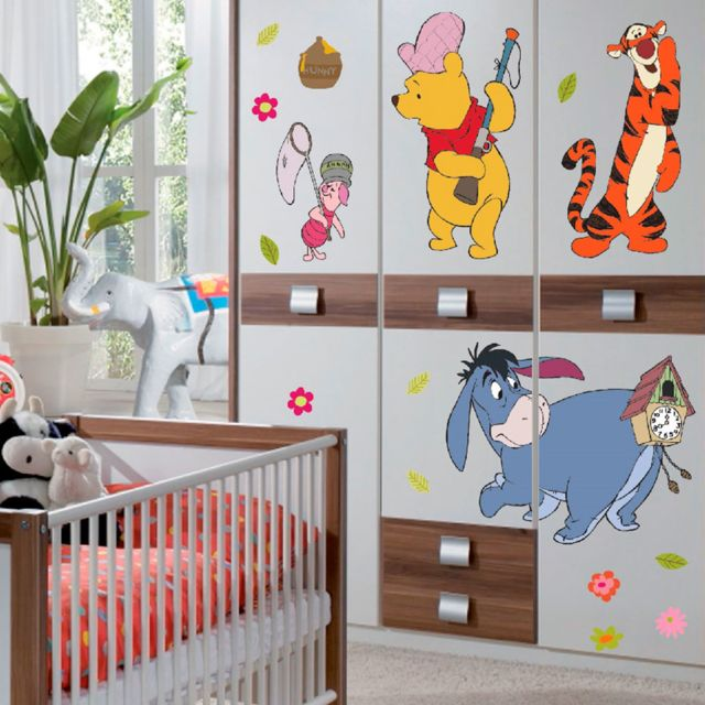 Bebe Gavroche - Stickers géant Winnie l\'Ourson à la chasse Disney ...