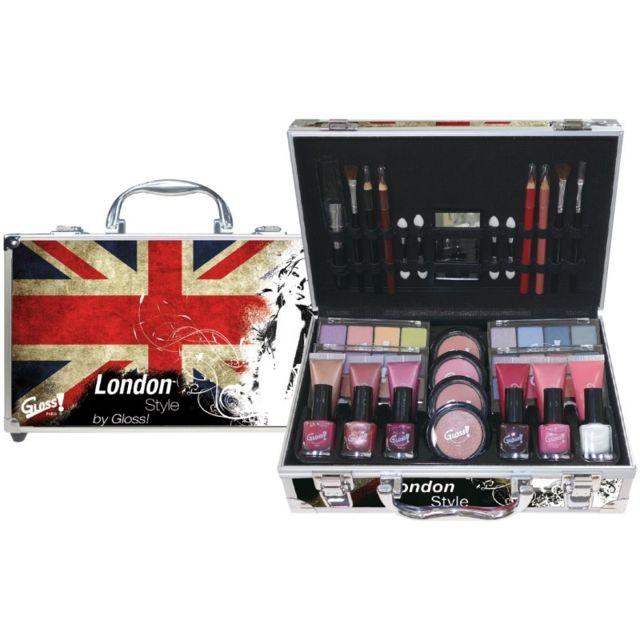 Gloss - Coffret cadeau coffret maquillage mallette de maquillage London -  65pcs 9a94e36ff9e3
