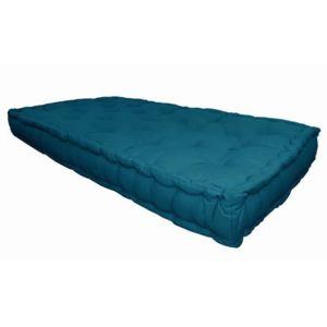 aucune matelas de sol coton 60x120x15cm bleu canard pas cher achat vente coussins. Black Bedroom Furniture Sets. Home Design Ideas