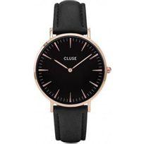 Cluse - Montre La Bohème Cl18001 - Montre Noire Dorée Mixte