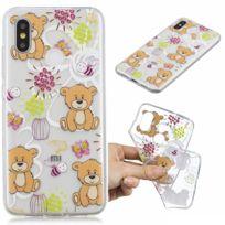 Marque Generique - Coque en Tpu motif ours bruns pour votre Xiaomi Mi 8