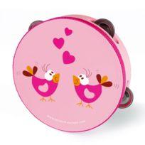 Scratch - Tambourin en bois : Love Birds