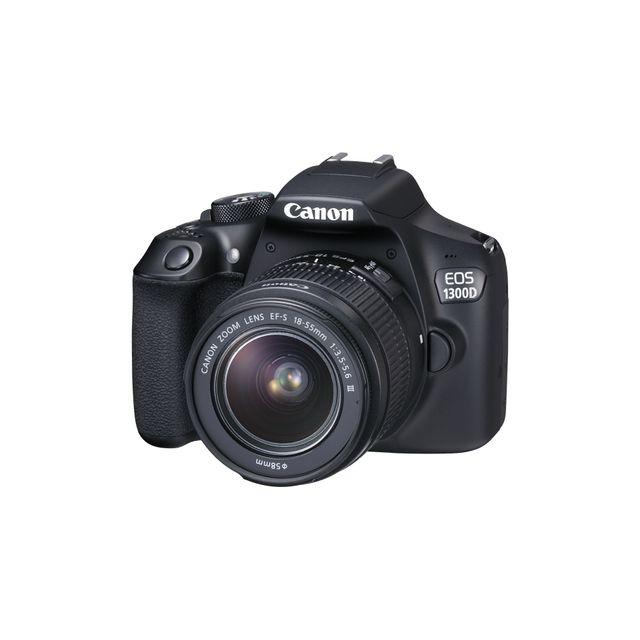 canon appareil photo reflex 1300d avec objectif 18 55 pas cher achat vente reflex grand. Black Bedroom Furniture Sets. Home Design Ideas