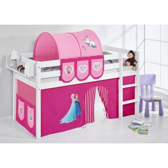 lilokids jelle2054kw frozen r 190 blanc 90cm x 190cm pas cher achat vente ensembles de. Black Bedroom Furniture Sets. Home Design Ideas