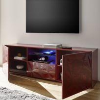 Elegant Nouvomeuble   Grand Meuble Télé Laqué Rouge Design Paolo 2 Sans éclairage