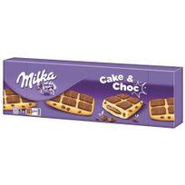 Milka - Gâteaux cake and choc chocolat - Paquet de 175 g