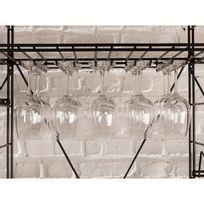 L Atelier Du Vin - Rack à verres en acier anti corrosion noir pour cave à vin Les Caves