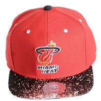 Mitchell And Ness - Casquette Miami Heat Red Logo Noir / Rouge Eu180