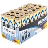 Maxell - pile alcaline lr03 aaa - lot de 32