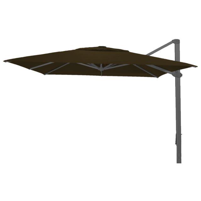 pegane parasol d port rectangle taupe anti uv 300x400cm pas cher achat vente parasols. Black Bedroom Furniture Sets. Home Design Ideas