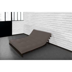 lovea matelas futon coton taupe 140x190 140cm x 190cm achat vente matelas pas chers. Black Bedroom Furniture Sets. Home Design Ideas