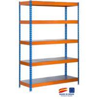 Simon Rack - Etagère de rangement 2000x1200x450mm bleu/orange/galva charge 300 Kg - Bricoforte 1204-5 Metal