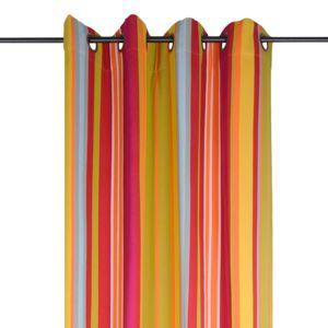 rideau bayadere orange. Black Bedroom Furniture Sets. Home Design Ideas