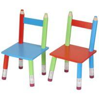 LA CHAISE LONGUE - Chaises crayons en bois pour enfant Par 2