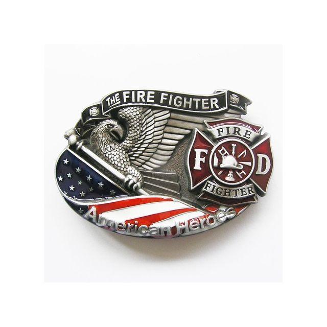 Universel - Boucle de ceinture pompier aigle americain fire dept homme e40c8a5e3eb