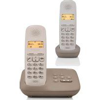 GIGASET - téléphone sans fil duo dect umbra avec répondeur - a150a duo umbra
