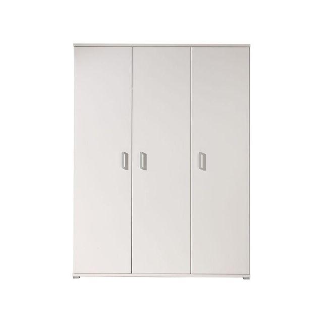 Comforium Armoire 150 cm à 3 portes coloris blanc