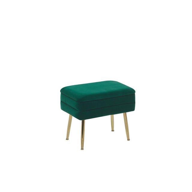 BELIANI Banquette design en velours vert foncé avec rangement ODESSA