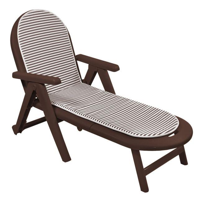 shaf bain de soleil ca man marron coussin marron blanc pas cher achat vente transats. Black Bedroom Furniture Sets. Home Design Ideas