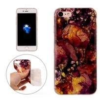 Wewoo - Coque pour iPhone7 Purple Yellow Marble Pattern Soft Tpu Housse de protection