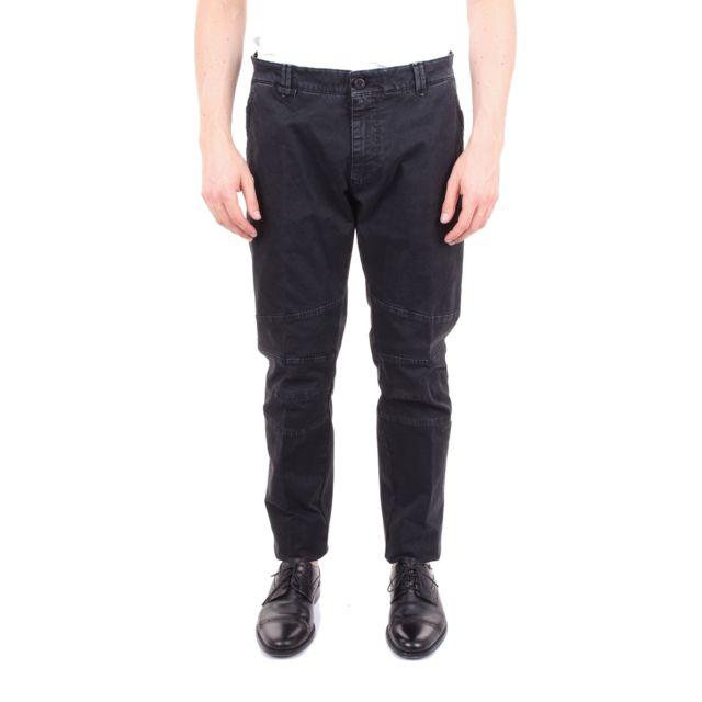 Messagerie Homme 004462T08981BLACK Noir Coton Pantalon