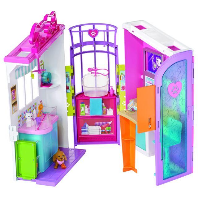barbie clinique v t rinaire fbr36 pas cher achat vente poup es mannequins rueducommerce. Black Bedroom Furniture Sets. Home Design Ideas