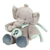 Nattou - Mini-peluche musicale Jack l'éléphant Jack, Jules & Nestor
