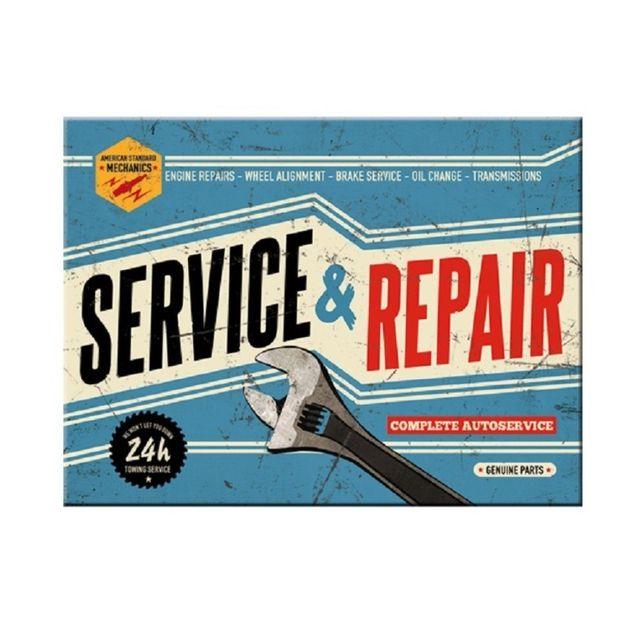 Universel magnet 6x8cm servie & repair bleu deco metal frigo garage