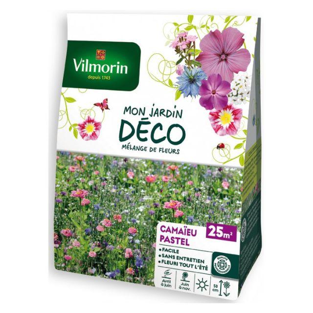 Vilmorin Sachet graines Mélange de fleurs Camaïeu Pastel 25m2