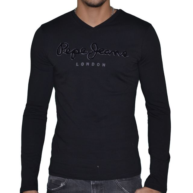 pepe jeans t shirt manches longues homme original. Black Bedroom Furniture Sets. Home Design Ideas
