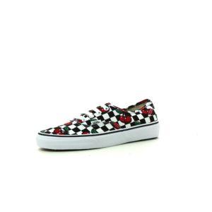 Vans U Authentic (Cherry checkers) Black/true white - Chaussures Baskets basses Femme