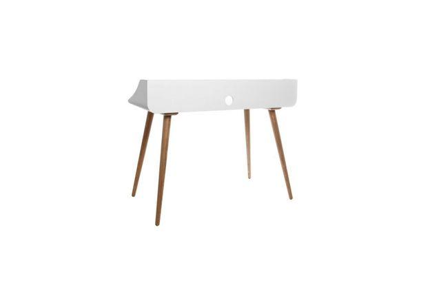 Miliboo - Bureau finition bois teinté blanc Nordeco