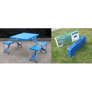 Rue du commerce table valise pliante pique nique bleu - Table camping valise carrefour ...