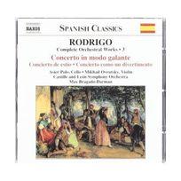 Naxos - Rodrigo : Musique pour orchestre, volume 3 : Concerto in modo galante, Concerto de estio
