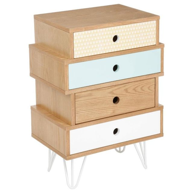 Paris Prix Commode 4 Tiroirs Shulg Multicolore