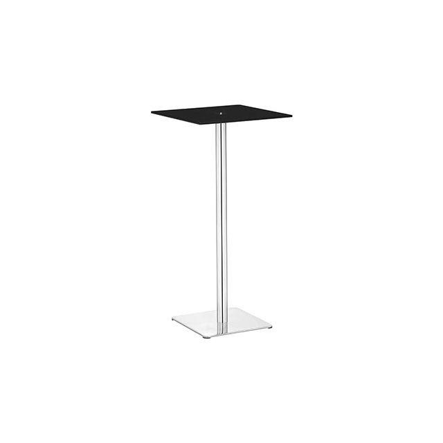 Table de bar carré 50cm noir