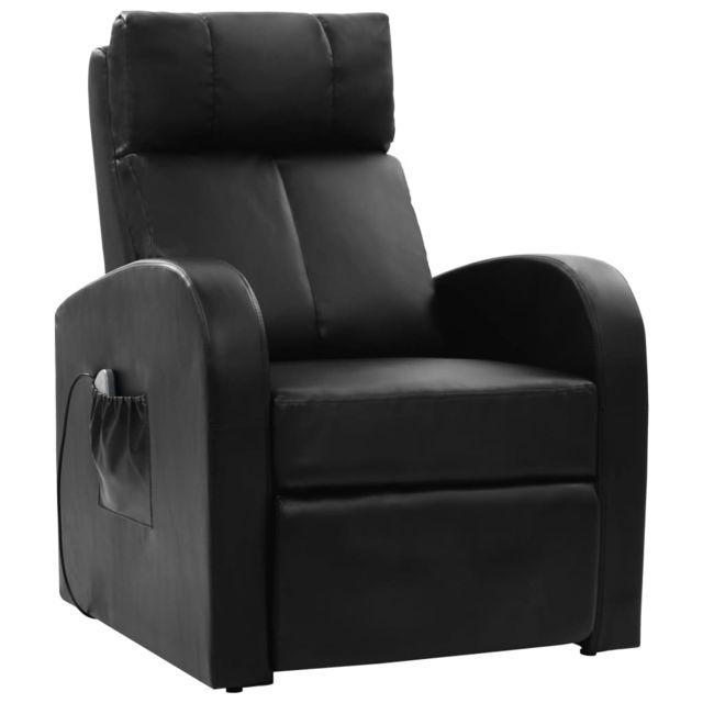 Superbe Fauteuils selection Luanda Fauteuil de massage électrique avec télécommande Noir