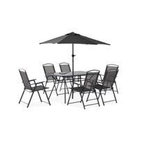 Table jardin avec parasol - catalogue 2019 - [RueDuCommerce - Carrefour]