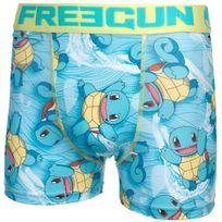 Freegun - Sous vêtement boxer Squ jaune/ciel boxer Bleu 56680