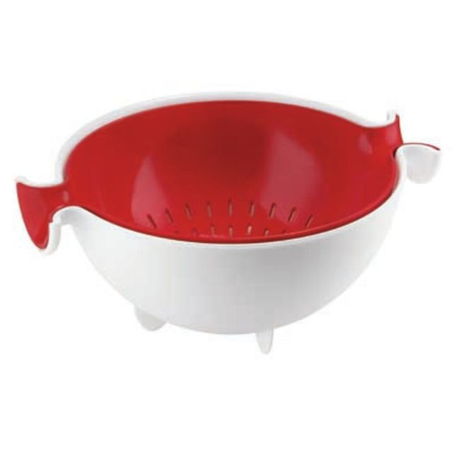GUZZINI passoire plastique avec bol rouge 25cm - 29250055