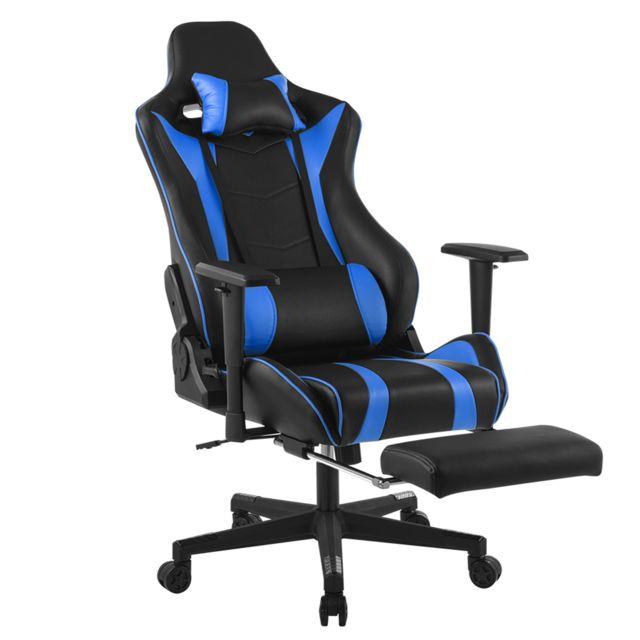 De Chaise Maison Bleu Jeu Gamer Pour Siège Bureau Réglable Gaming TculFK13J