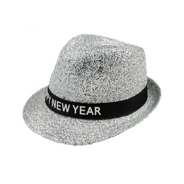 Boland - Chapeau borsalino nouvelle année argent - pas cher Achat ... 5f223272bbd