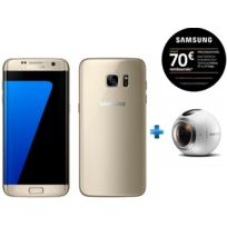 Samsung - Galaxy S7 Edge Or + Camera Gear 360 pour Réalité Virtuelle