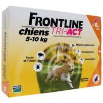 Frontline - Tri-Act 6x1ml - Pour chien de 5-10kg