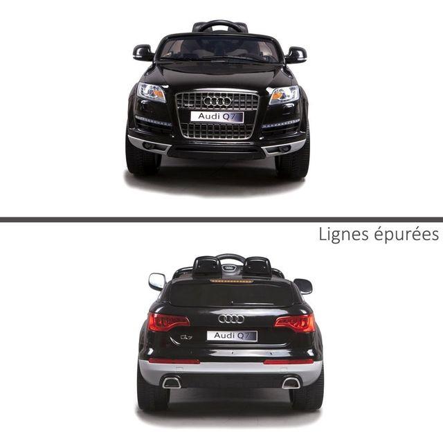 Audi - Petit 4X4 voiture électrique enfant Q7 roues en gomme Eva 12V Noir  avec avec 7cbcb1cc6107