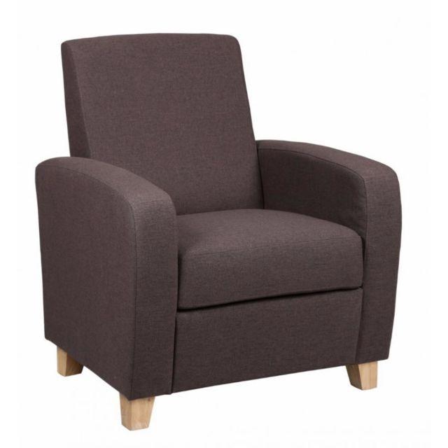 Inside 75 Petit fauteuil Seated tissu prune